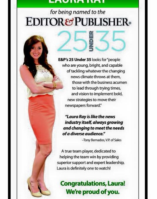 SAVANNAH MORNING NEWS' LAURA RAY NAMED E&P'S 25 UNDER 35