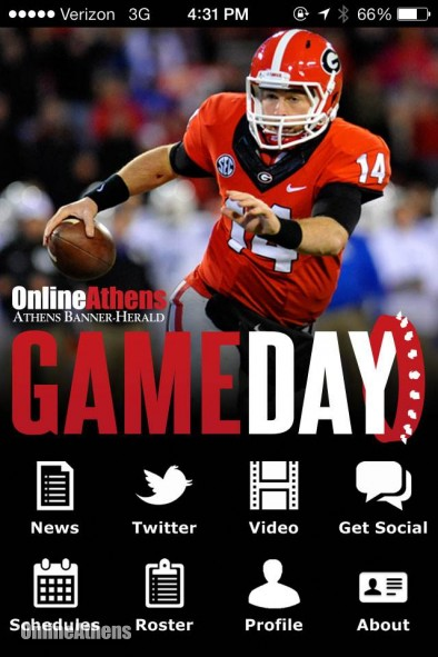 UGA GAMEDAY APP NOW AVAILABLE